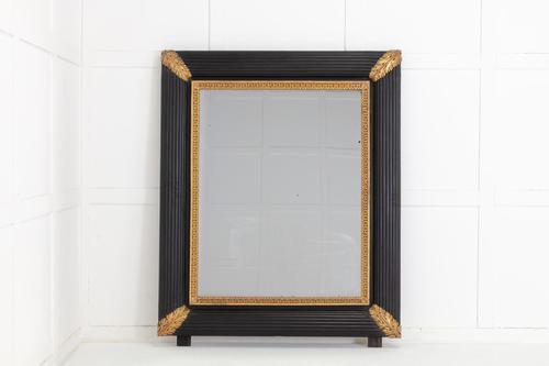 Large 19th Century Italian Ebonised & Gilded Mirror (1 of 4)