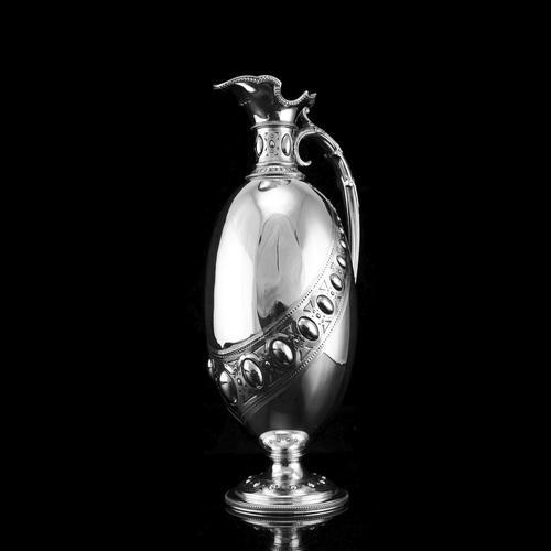 Antique Victorian Solid Silver Wine Ewer / Claret Jug - Barnard 1872 (1 of 19)