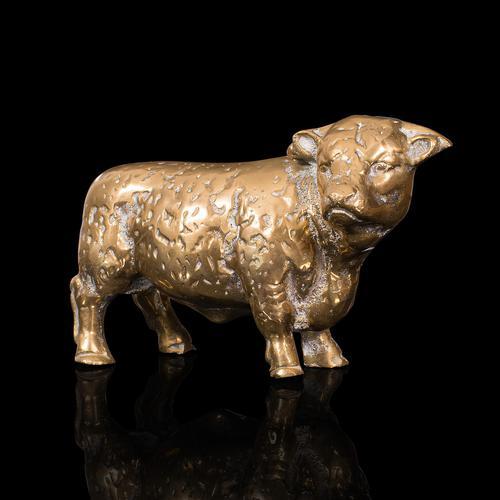 Antique Decorative Bull Figure, English, Brass, Desk, Display Statue, Victorian (1 of 12)