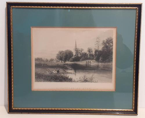 19th Century Print, Holy Trinity Church, Stratford upon Avon (1 of 4)