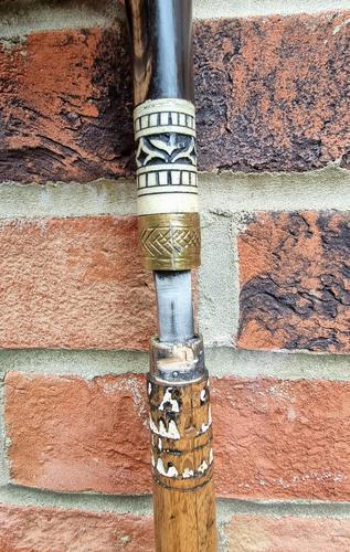 Antique Indian Gadget Stick Walking Stick (1 of 7)