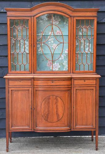 Superb, Fine Quality Edwardian Satinwood Display Cabinet c.1901 (1 of 19)