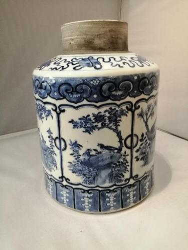 19th century Chinese blue and white jar (1 of 7)