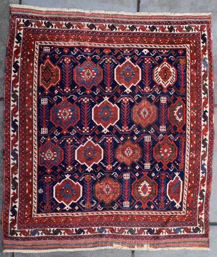 Very Fine Antique Afshar Tribal Rug 120x107cm (1 of 4)