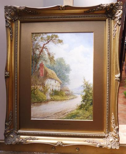 Watercolour Mill Cottage Reigate Listed Artist H Rawson (1 of 13)