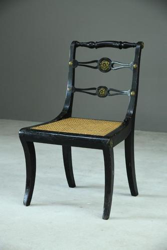 Single Ebonised 19th Century Chair (1 of 12)