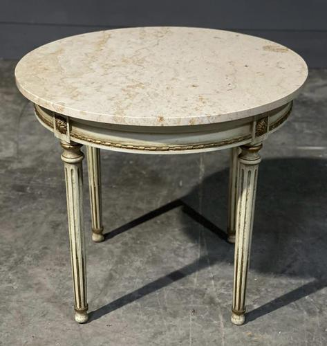 French Round Marble Top Coffee Table (1 of 15)