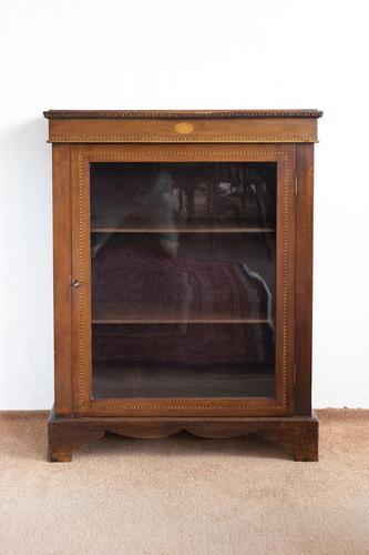 Victorian Mahogany Inlaid Pier Cabinet on Bracket Feet (1 of 7)