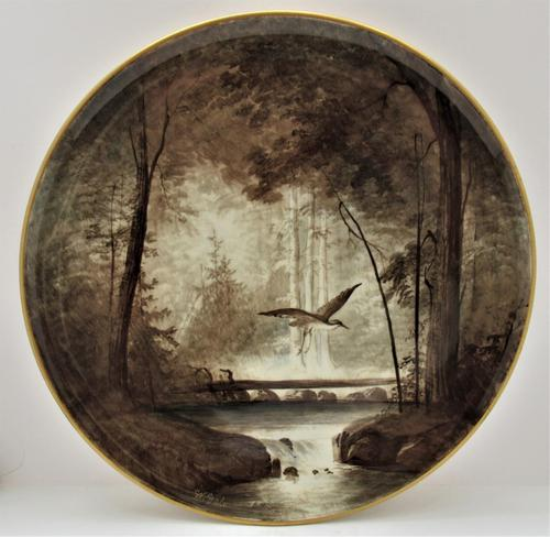 Copeland Victorian Wall-hanging Porcelain Plaque Painted by William Yale, Signed c.1870 (1 of 9)