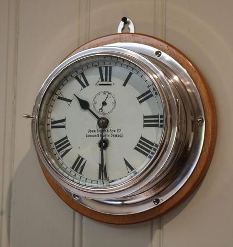 Nickel Plated Ships Bulkhead Clock (1 of 5)