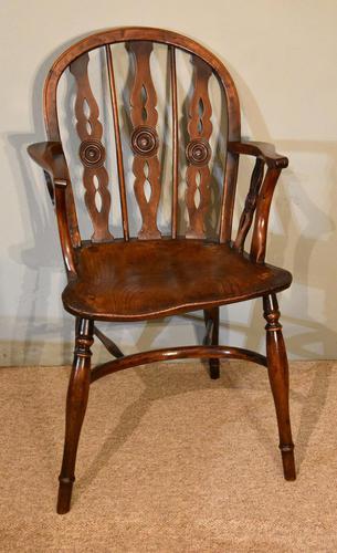 19th Century Yew Wood Windsor Armchair (1 of 6)