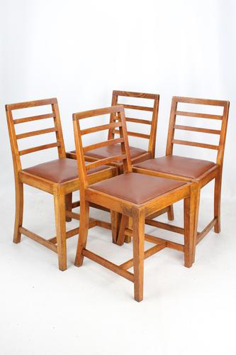 Set of 4 Oak Dining Chairs Manner of Heals (1 of 13)