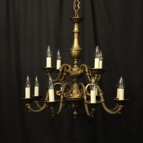 French Gilded Brass 12 Light Tiered Chandelier Oka04098 (1 of 10)