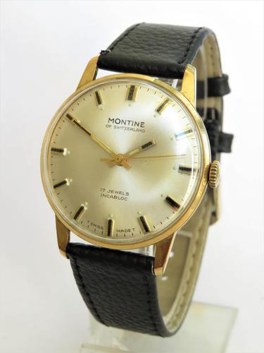 Gents 1970s Swiss Montine Wrist Watch (1 of 4)