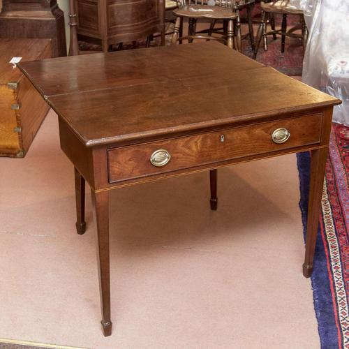 Mahogany Tea Table with Fold-Over Top (1 of 4)