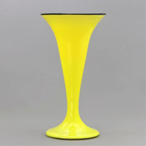 Tall Loetz Yellow Tango Secessionist Glass Vase c.1920 (1 of 9)