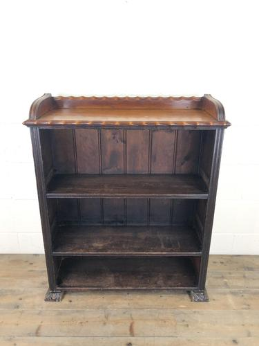 Victorian Walnut Open Bookcase with Gallery Top (1 of 11)