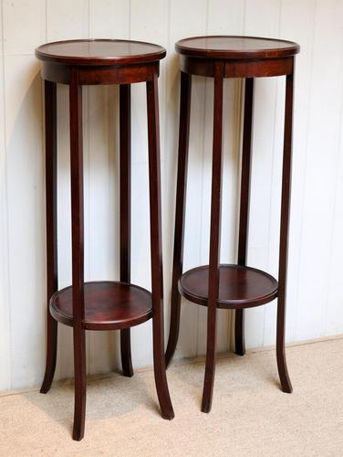 Pair of Edwardian Mahogany Jardinière Stands (1 of 10)