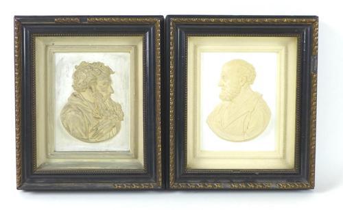 Pair of 19th Century Plaster Relief Plaques, Titled 'Petrus' & 'Paulus' (1 of 7)