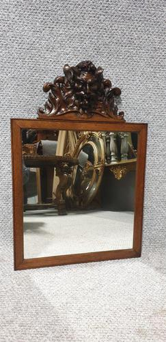 Carved Oak Devil Head Mirror (1 of 2)