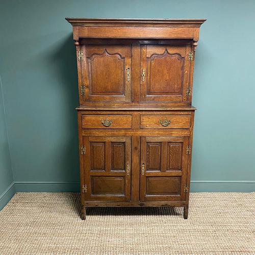 Magnificent Georgian Period Oak Cwpwrdd Deuddarn Cupboard (1 of 8)