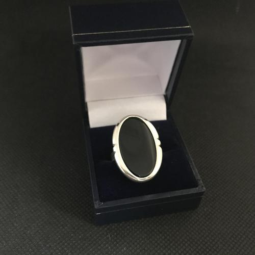Danish Silver Ring with Onyx. 1960s. N E From (1 of 5)