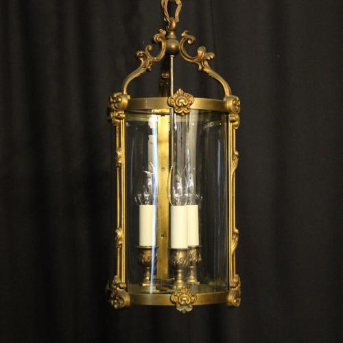French Gilded Bronze Antique Hall Lantern (1 of 9)