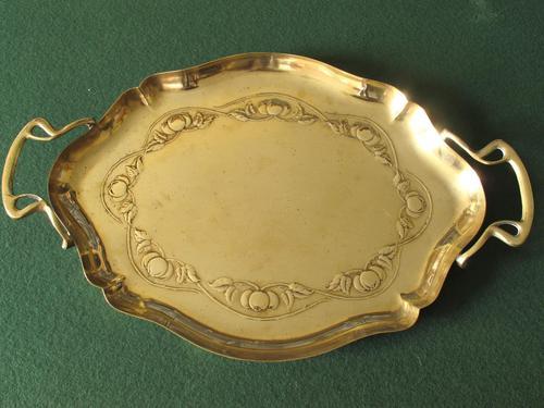 Art Nouveau Brass Tray (1 of 3)