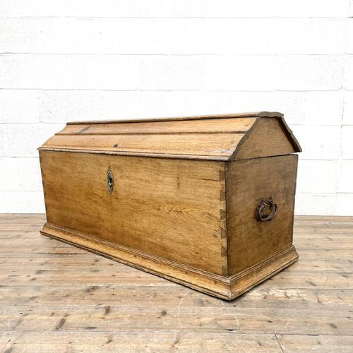 19th Century Antique Oak Dome Top Trunk (1 of 13)