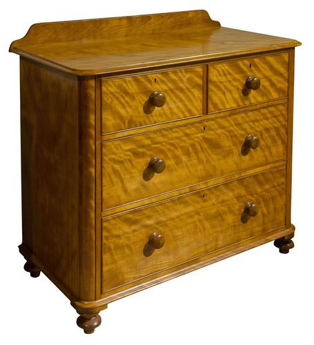 A Victorian Birch Satinwood Chest of Drawers (1 of 7)