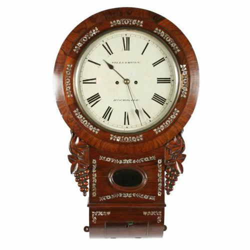 Rosewood Double Fusee Wall Clock (1 of 6)
