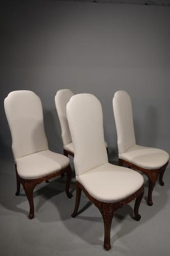 A Set of 4 Early 20th Century Mahogany Framed Chairs (1 of 4)