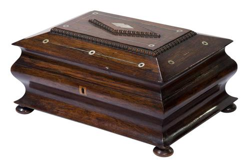 Victorian Rosewood Jewellery / Sewing Box (1 of 8)