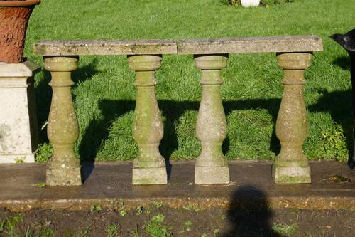 Weatherworn Concrete Balustrade, Columns & Coping Stones (1 of 7)