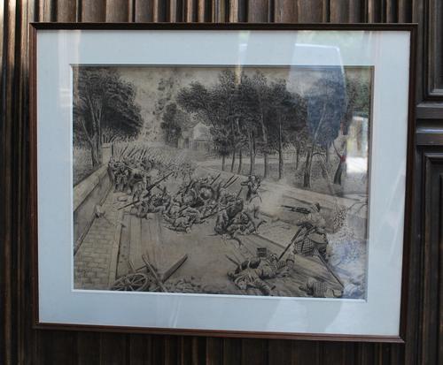 Heroic Highlander, WW1 Drawing (1 of 8)