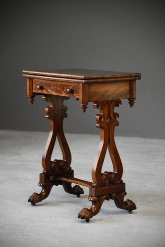Antique Victorian Mahogany Games Table (1 of 12)