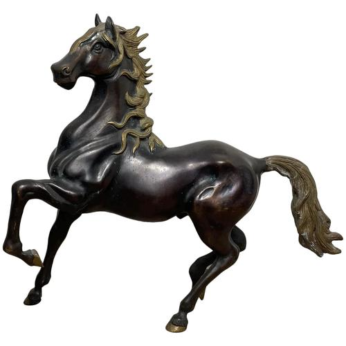 Circa 1920 Gilt Bronze Sporting Pacing Horse Statue Influenced By Giambologna (1 of 42)
