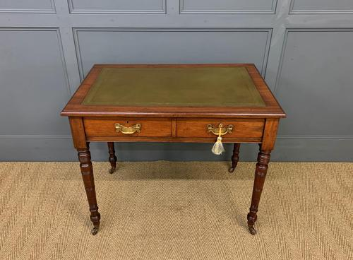 Victorian Walnut 2 Drawer Writing Table (1 of 15)