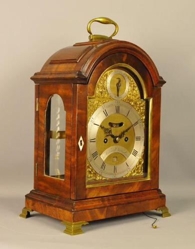 Fine Mahogany Verge Triple Pad Top Bracket Clock - Martineau, London (1 of 13)