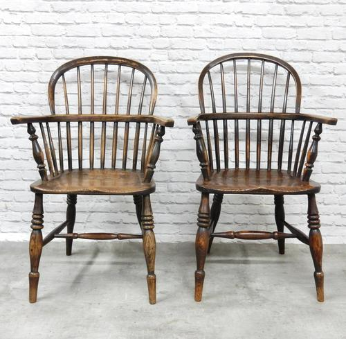 Near Pair of Stickback Windsor Armchairs (1 of 8)