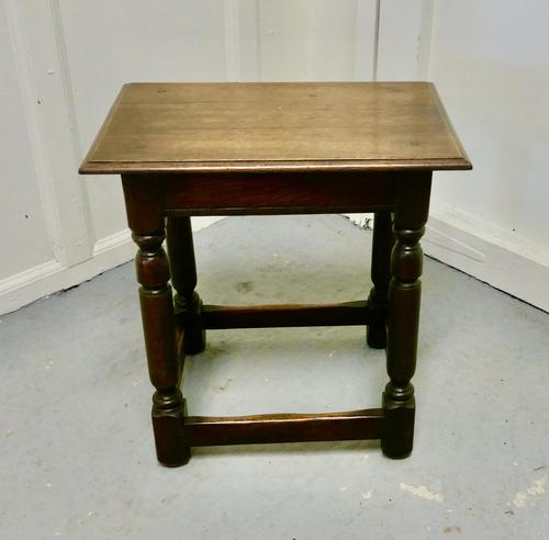 Another 19th Century Oak Joint Stool (1 of 6)