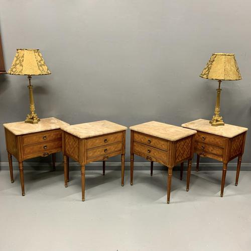 Set of 4 French Marble Top Side Tables (1 of 11)