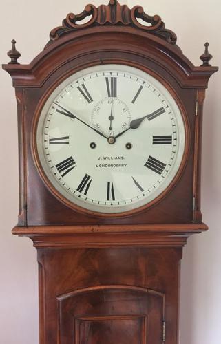 Gorgeous Eight Day Irish Longcase Clock Mid Nineteenth Century (1 of 9)