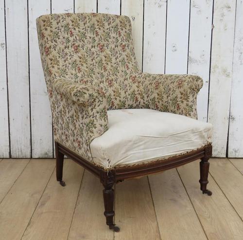 Antique Napoleon III High Back Armchair (1 of 8)