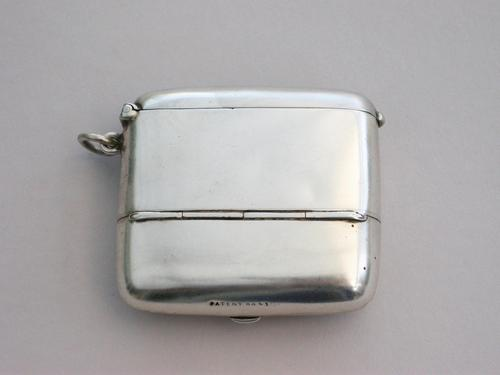 Large Edwardian Silver Combination Vesta Case & Cheroot Holder Case, by Joseph Gloster, Birmingham 1904 (1 of 14)