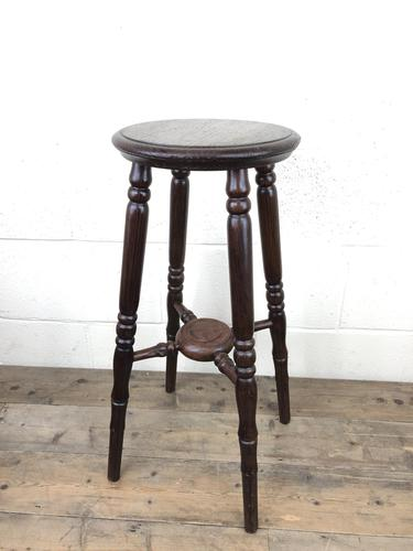 Late Victorian Stained Pine Jardiniere Plant Stand (1 of 7)
