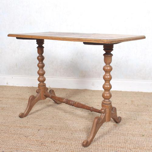 Writing Table Light Oak 19th Century (1 of 12)