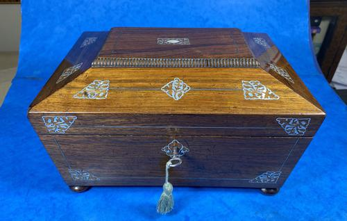 William IV Rosewood Jewellery Box with Inlays (1 of 12)