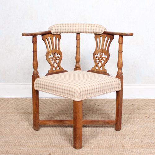 Georgian Corner Elbow Chair Beech (1 of 10)
