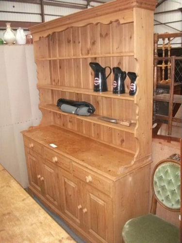 Large Pine Three Drawer Kitchen Dresser (1 of 2)